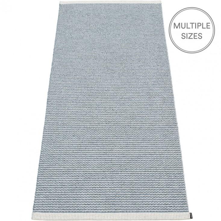 Pappelina Mono Storm : Light Grey Runner - 85 x 260 cm