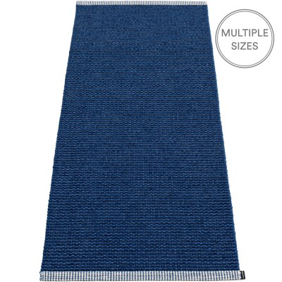 Pappelina Mono Dark Blue : Denim Rug