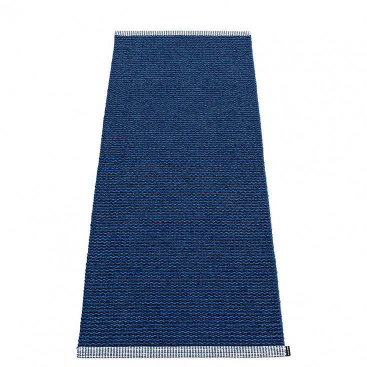 Pappelina Mono Dark Blue : Denim Rug - 60 x 150 cm