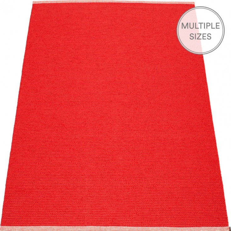 Pappelina Mono Red : Coral Red Large Rug