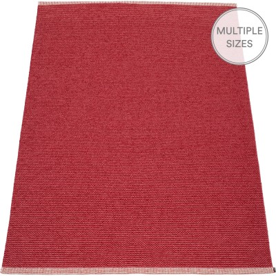 Pappelina Mono Blush : Dark Red Large Rug