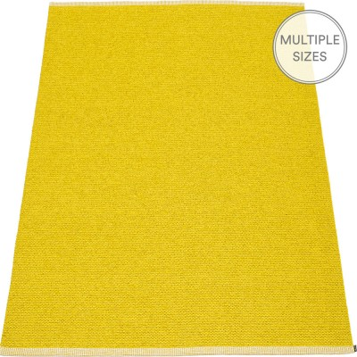 Pappelina Mono Mustard : Lemon Large Rug