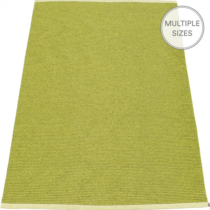 Pappelina Mono Olive : Lime Large Rug