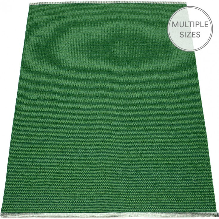 Pappelina Mono Grass Green : Dark Green Large Rug