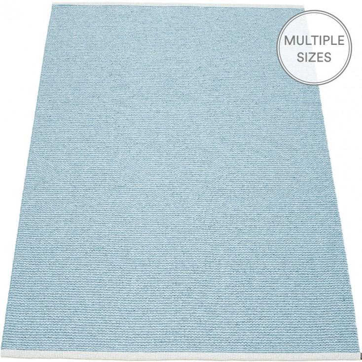 Pappelina Mono Misty Blue : Ice Blue Large Rug