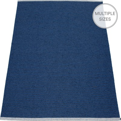 Pappelina Mono Dark Blue : Denim Large Rug