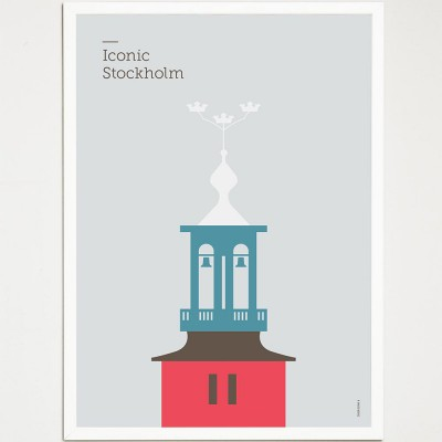 Iconic Stockholm Poster - City Hall