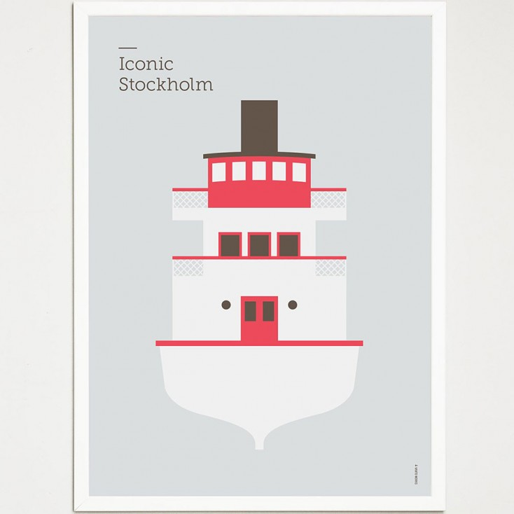 Iconic Stockholm Poster - Boat