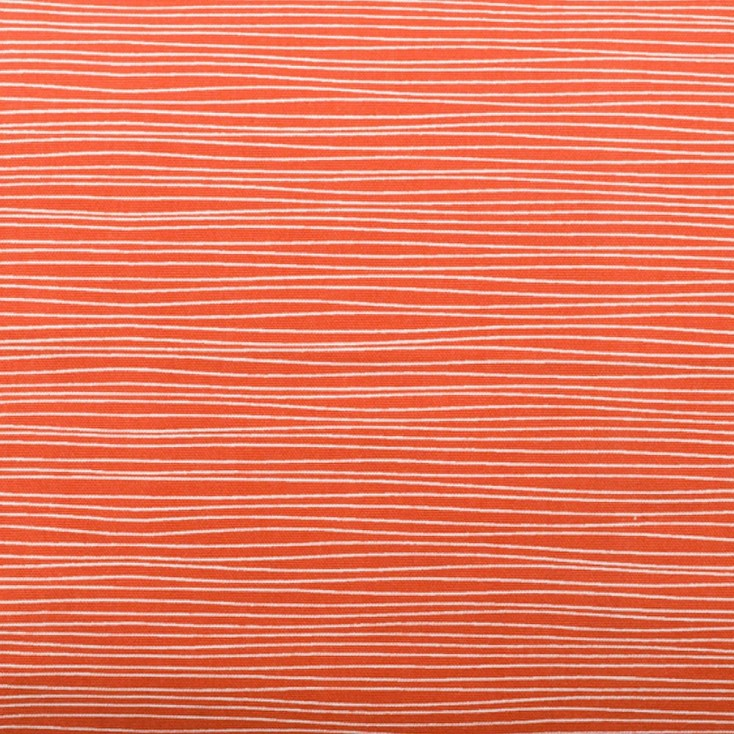 Remnant - Line Coral Fabric - 1.1 m
