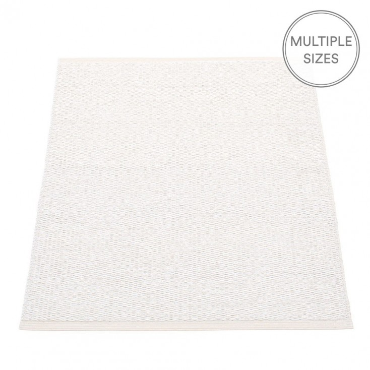 Pappelina Svea White Metallic Mat - 70 x 90 cm