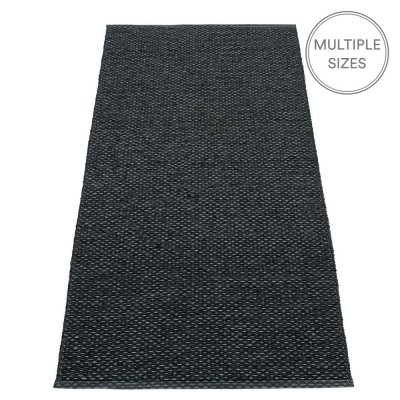 Pappelina Svea Runner - Black Metallic - 70 x 160 cm