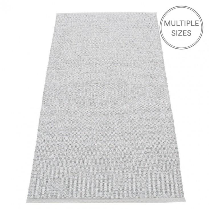 Pappelina Svea Runner - Grey Metallic - 70 x 160 cm