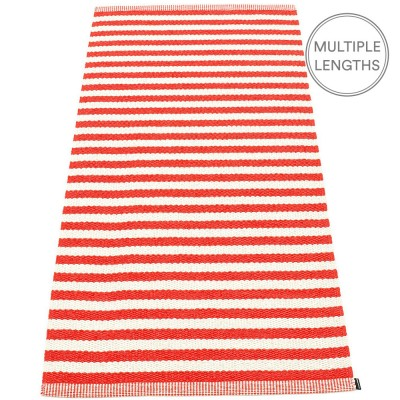 Pappelina Duo Coral Red & Vanilla Rug - 85 x 160 cm