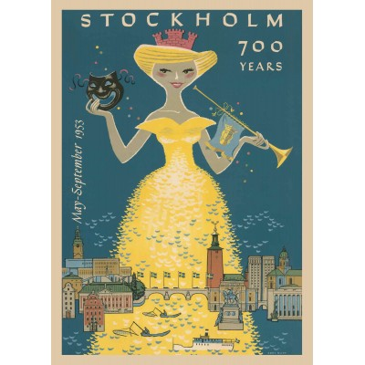Stockholm 700 Years - Vintage Travel Poster