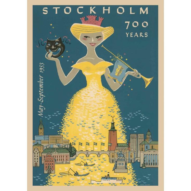 Stockholm 700 Years - Vintage Travel Poster