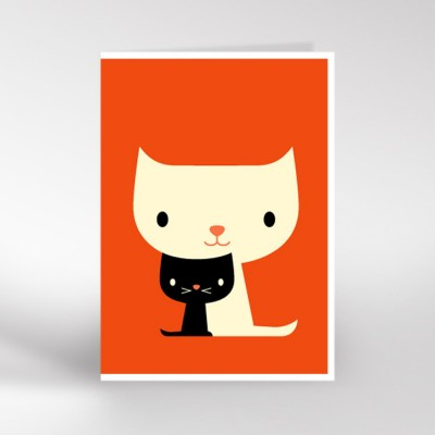 Two Cute Cats Greeting Card