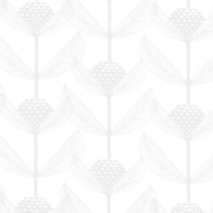 Remnant - Björnbärsblomma White Fabric - 3.65 Metres
