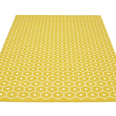 Pappelina Honey Large Rug - Mustard