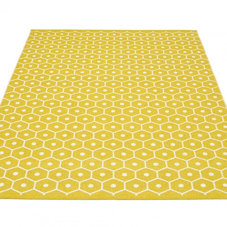 Pappelina Honey Large Rug   Mustard