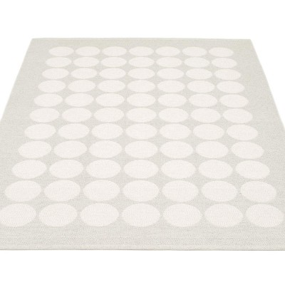 Pappelina Hugo Large Rug - White Metallic