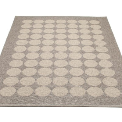 Pappelina Hugo Large Rug - Mud Metallic