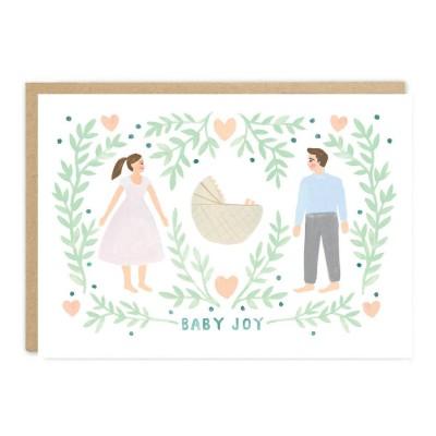 Jade Fisher - Peach Greeting Card