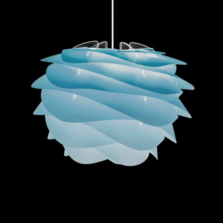 Umage Carmina Lamp Shade - Mini Azure on Vita Floor Tripod