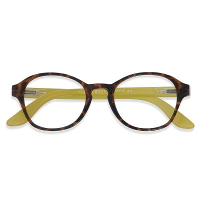 Have A Look Reading Glasses Circle Horn - Yellow