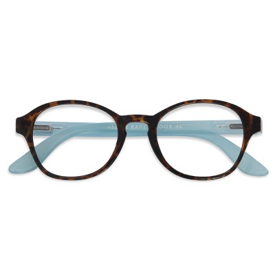 Have A Look Reading Glasses - Circle - Horn & Blue