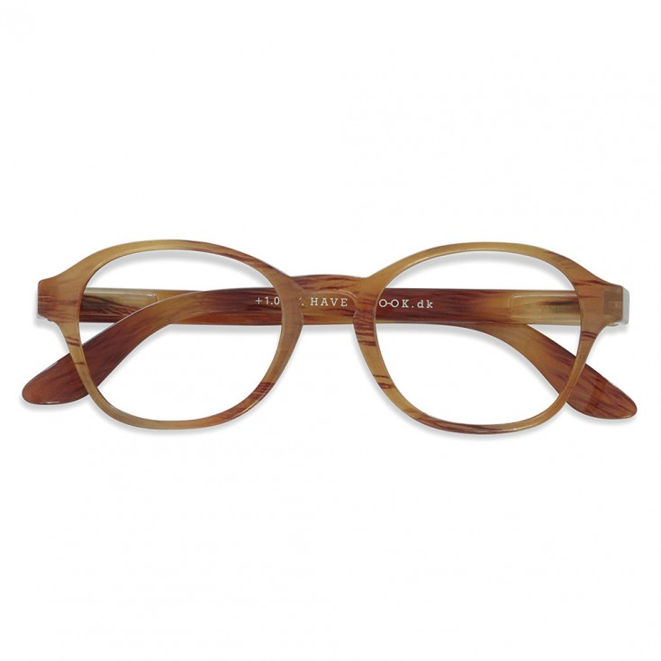 Have A Look Reading Glasses - Circle - Amber
