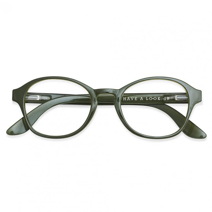 Have A Look Reading Glasses - Circle - Army