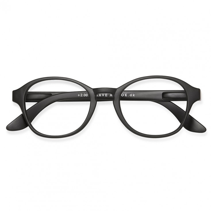 Have A Look Reading Glasses - Circle - Black