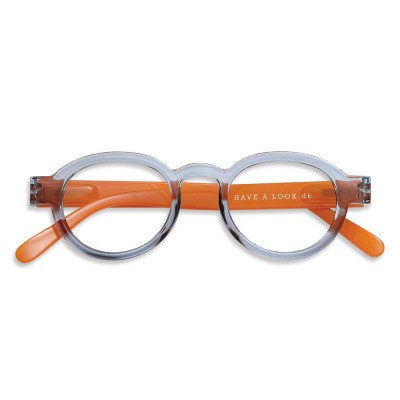 Have A Look Reading Glasses - Circle Twist - Grey & Orange