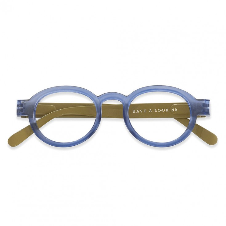 Have A Look Reading Glasses - Circle Twist - Blue & Olive