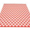 Pappelina Dana Large Rug - Coral Red Reverse