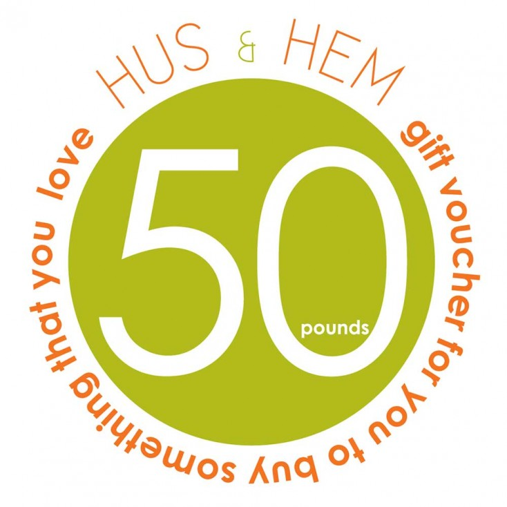Hus & Hem Fifty Pound Gift Voucher