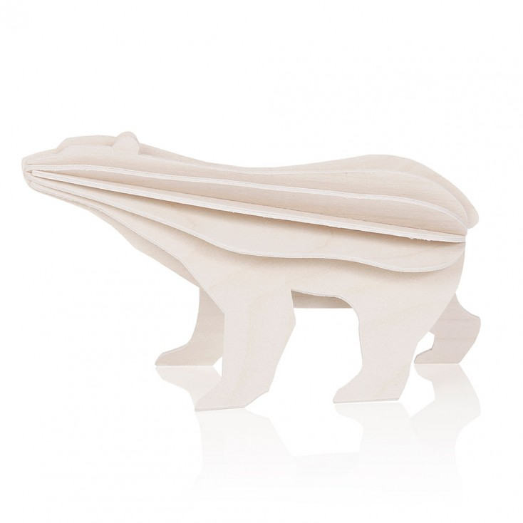 Lovi Birch Ply Polar Bear - Natural