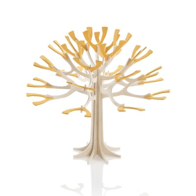 Lovi Mini Birch Ply Season Tree - Warm Yellow