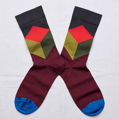 Bonne Maison Socks - Dark Cube