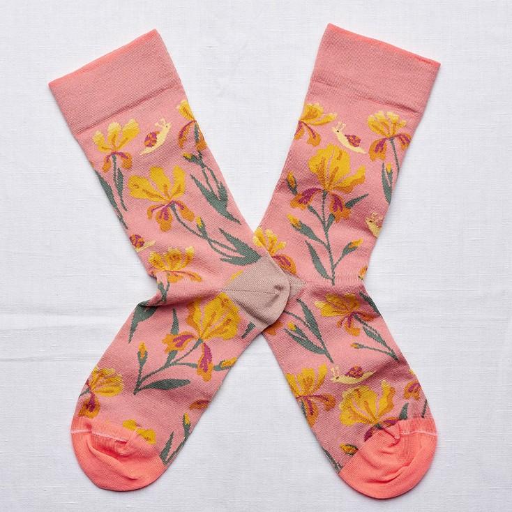 Bonne Maison Socks - Nasturtium Pink Iris