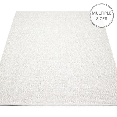 Pappelina Svea Large Rug - White Metallic