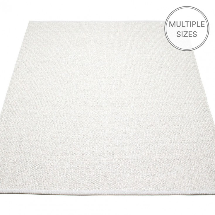 Pappelina Svea Large Rug - White Metallic