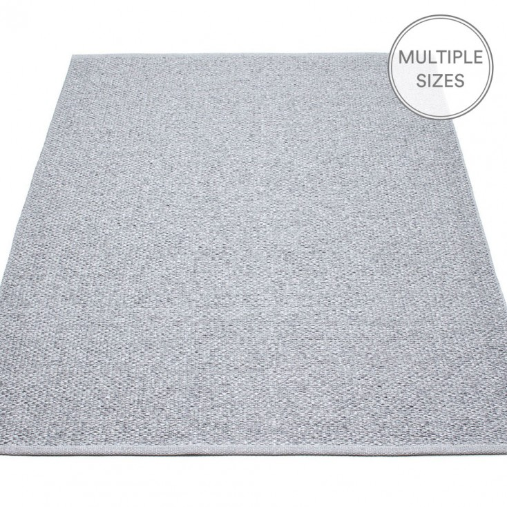 Pappelina Svea Large Rug - Grey Metallic