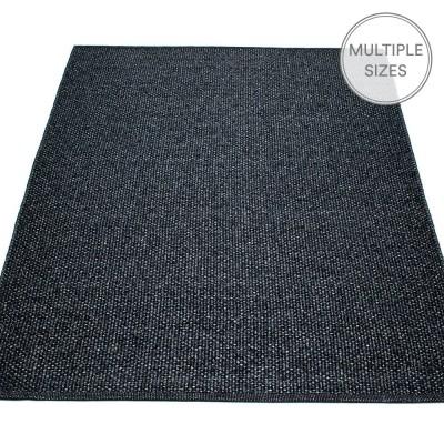 Pappelina Svea Large Rug - Black Metallic