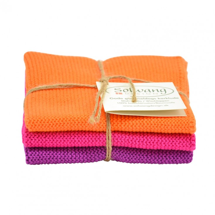 Danish Cotton Dishcloth Trio - Multi