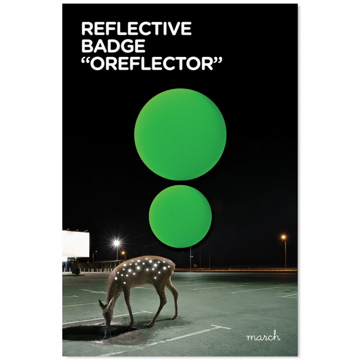 March Reflective Badges - Double