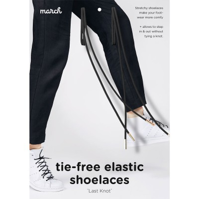 March Last Knot Elastic Shoelaces - Black
