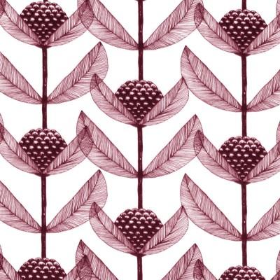 Scandinavian Fabric - Kinnamark Björnbärsblomma Plum