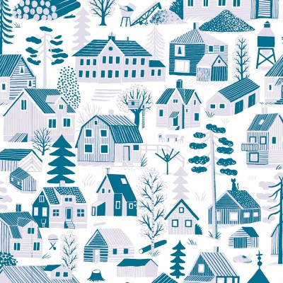Scandinavian Fabric - Kauniste Mokkila Blue