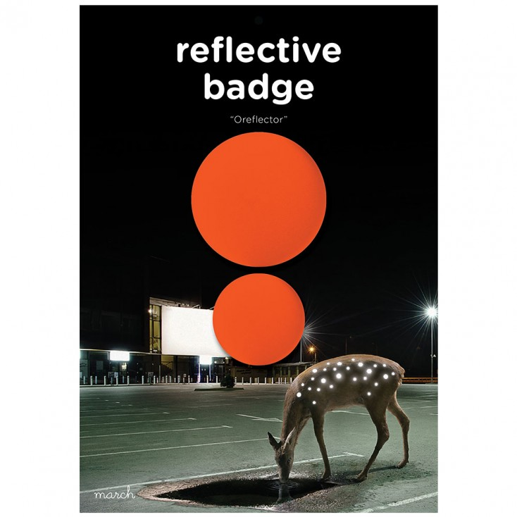 March Reflective Badges - Neon Orange